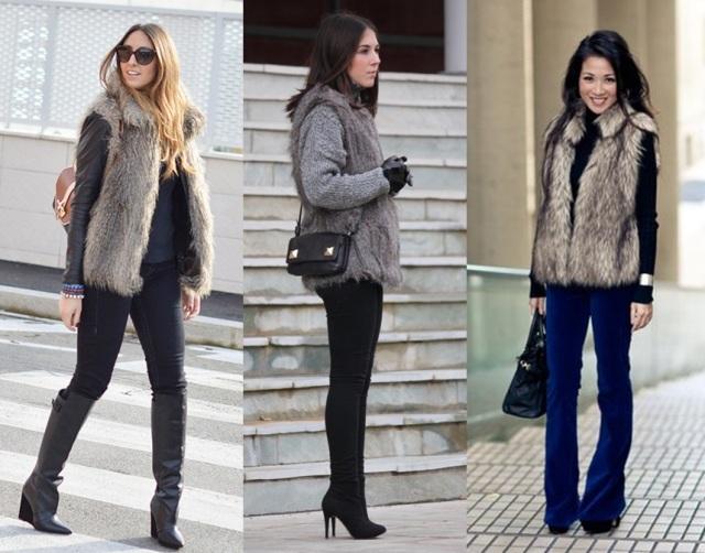 09_Colete de pelucia_looks para o trabalho_fur vest_colete de pelo fake_colete de pelucia_como usar_colete de pelucia cinza