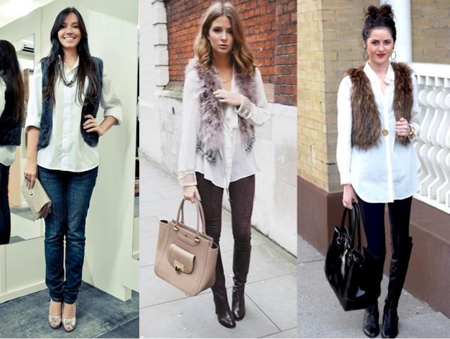 10_Colete de pelucia_looks para o trabalho_fur vest_colete de pelo fake_colete de pelucia_como usar_colete de pelucia com camisa