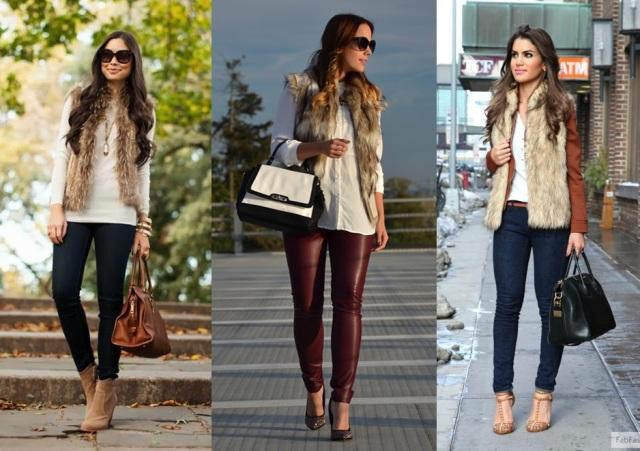 12_Colete de pelucia_looks para o trabalho_fur vest_colete de pelo fake_colete de pelucia_como usar