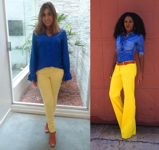 9_look para copa_o que vestir para trabalhar em dia de jogo do brasil_looks para trabalhar na copa_looks azul verde amarelo_word cup 2014