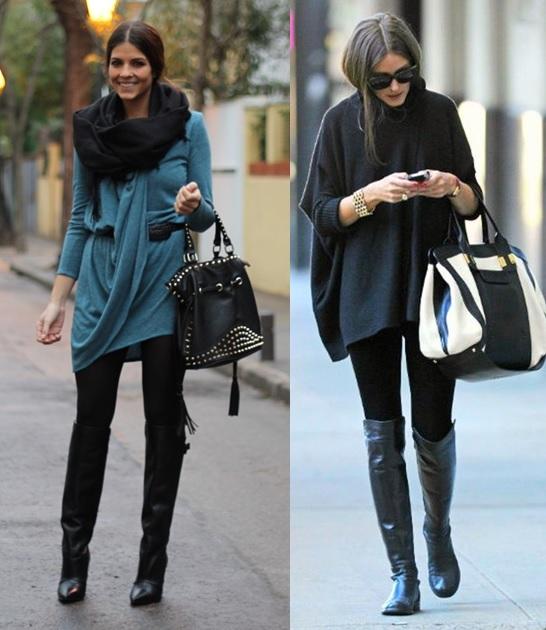 01_Looks com legging para trabalhar_ Legging preta_blusa ampla