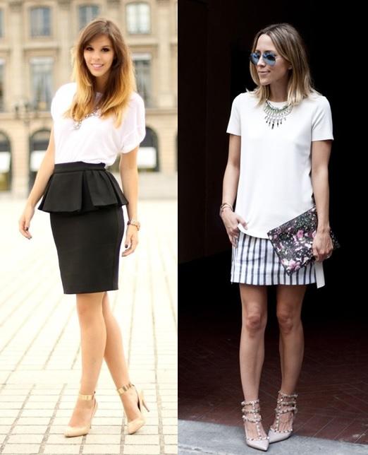 03_Camiseta basica em look para o trabalho_camiseta básica com saia_maxi colar_look elegante e moderno_moda para o trabalho