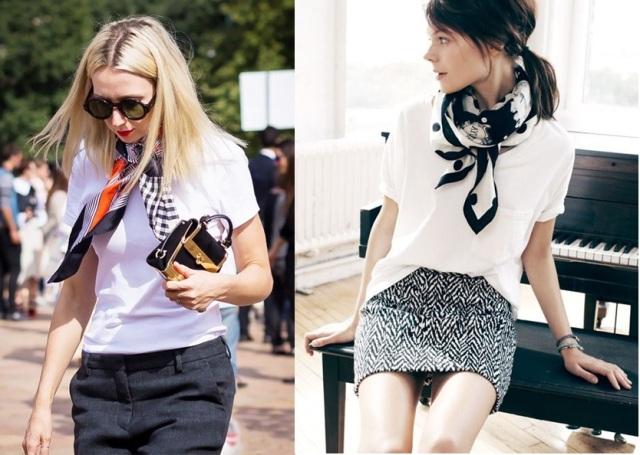 07_Camiseta basica em look para o trabalho_camiseta básica com lenço_look elegante e moderno_moda para o trabalho