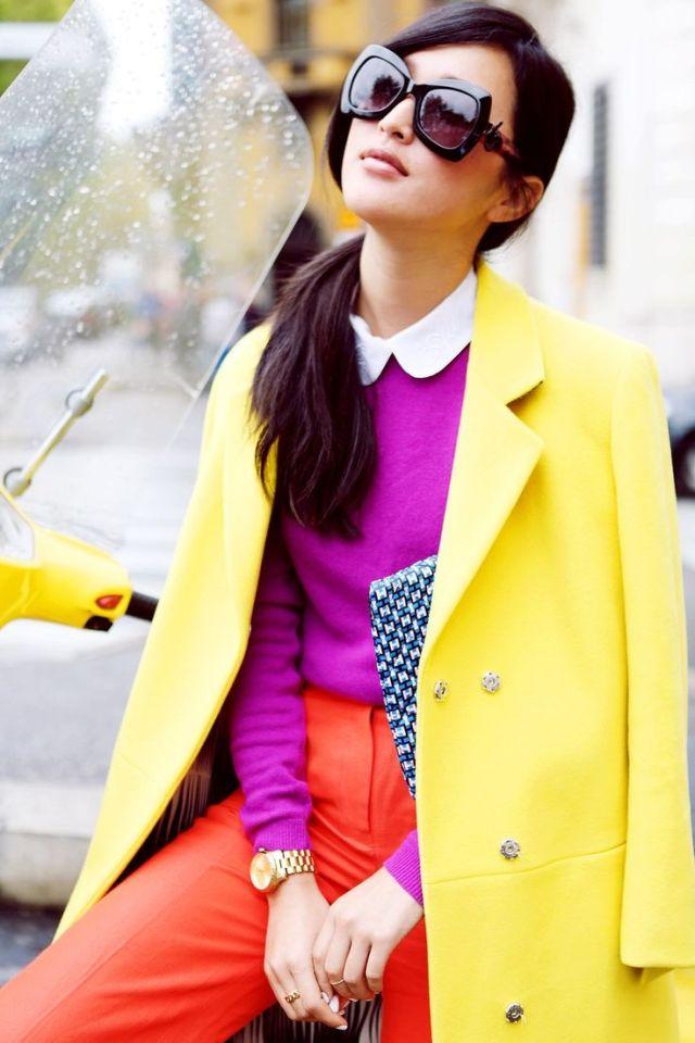 1.Looks coloridos_como combinar peças coloridas_como usar combinação de cores_colored outfits_24
